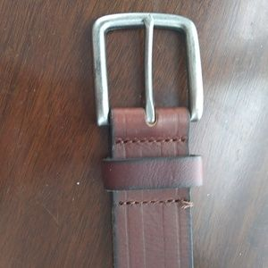 Other - Genuine leather with silver tone buckle NWT sz L